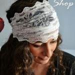 White Gorgeous Headband La..
